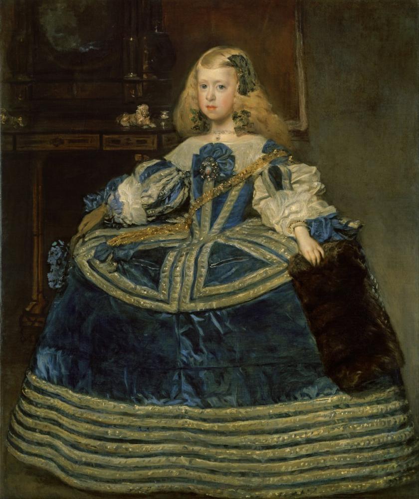 Diego Velázquez, Infanta Margarita Teresa in a Blue Dress, Canvas, Diego Velázquez, kanvas tablo, canvas print sales
