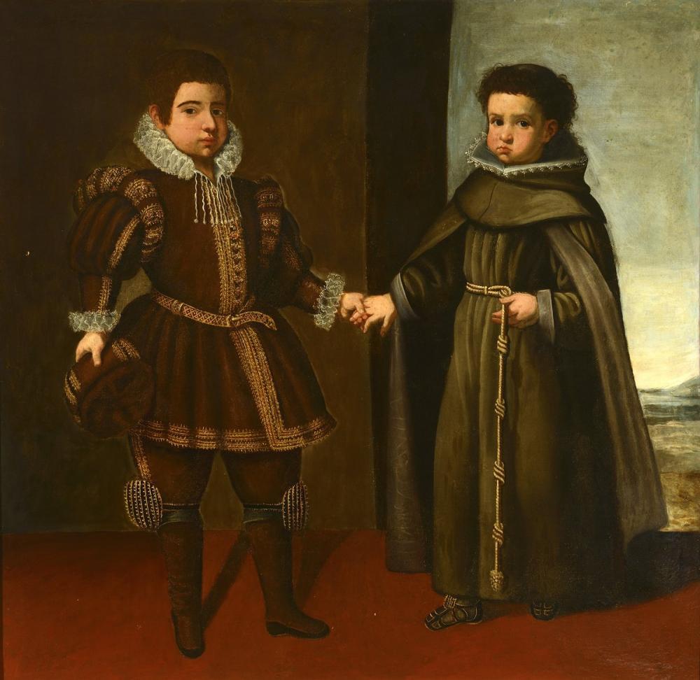 Diego Velázquez, Avusturya'dan Don Juan ve Kardeşi Fray Alonso de Santo Tomás, Kanvas Tablo, Diego Velázquez