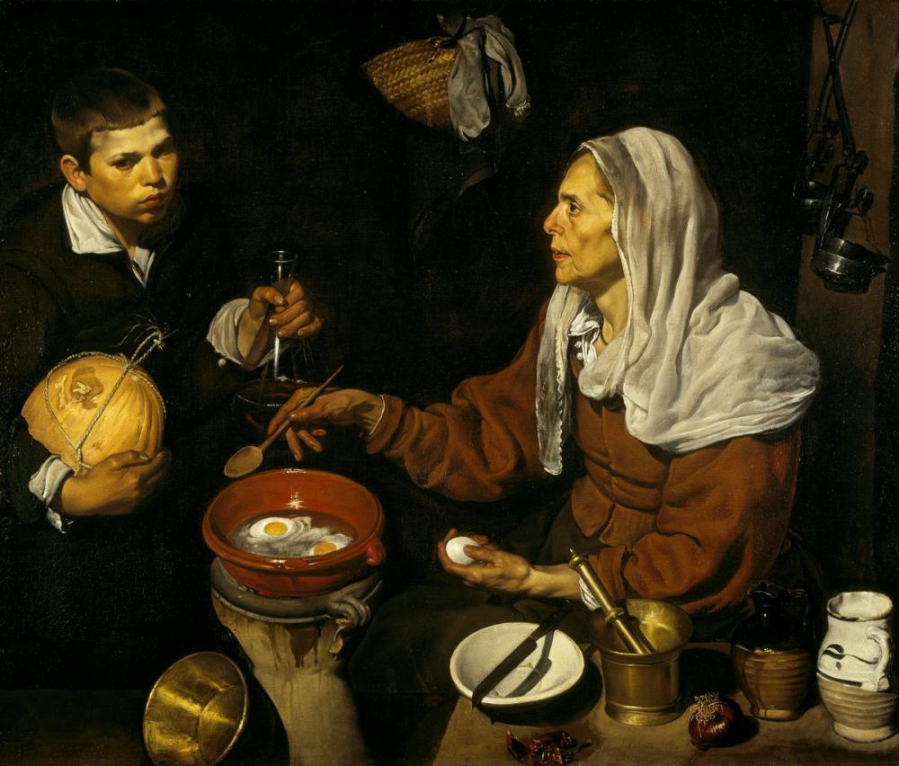 Diego Velázquez, Old Frying Eggs, Canvas, Diego Velázquez, kanvas tablo, canvas print sales