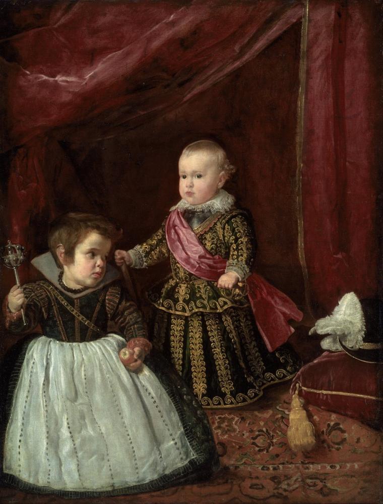 Diego Velázquez, Don Baltasar Carlos ile Bir Cüce, Kanvas Tablo, Diego Velázquez