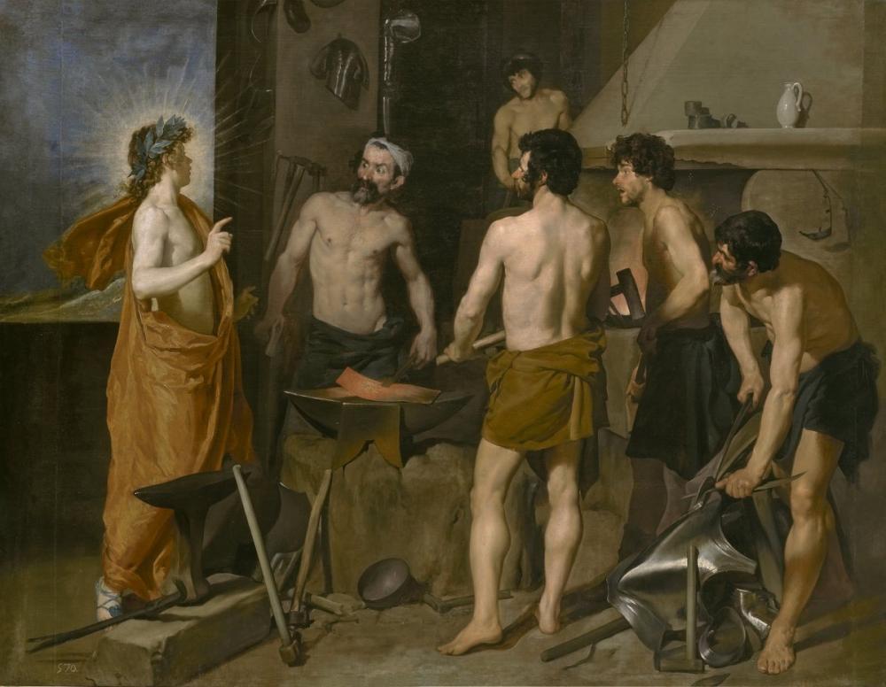 Diego Velázquez, Vulkan Demirhanesi, Kanvas Tablo, Diego Velázquez, kanvas tablo, canvas print sales