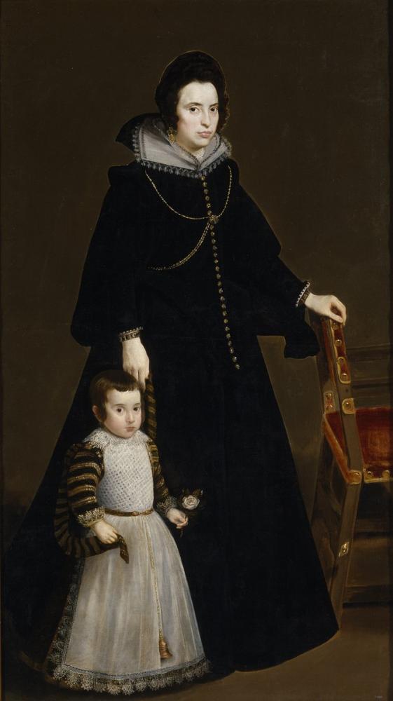 Diego Velázquez, Doña Antonia de Ipeñarrieta y Galdós And Her Son Don Luis, Canvas, Diego Velázquez, kanvas tablo, canvas print sales