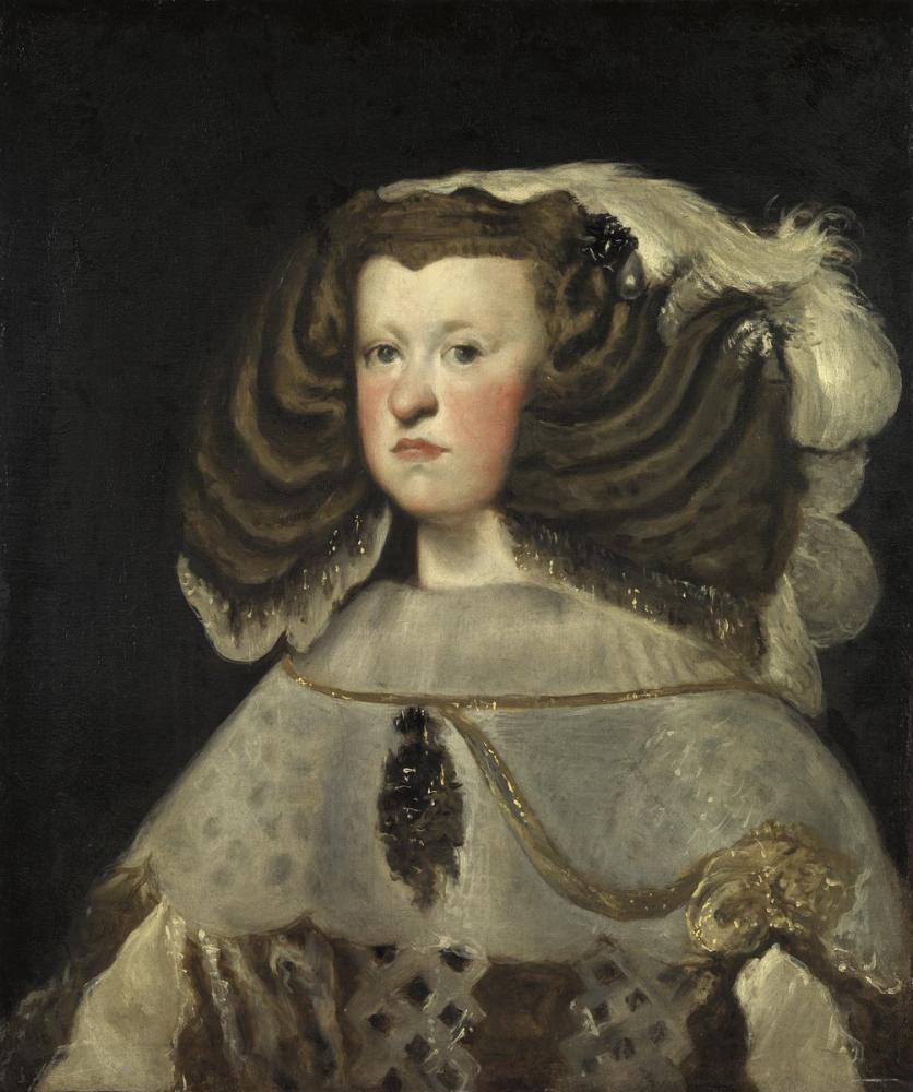 Diego Velázquez, İspanya Kraliçesi Avusturya Mariana Portresi, Kanvas Tablo, Diego Velázquez, kanvas tablo, canvas print sales