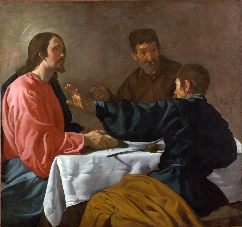 Diego Velázquez, Emmaus Akşam Yemeği, Kanvas Tablo, Diego Velázquez, kanvas tablo, canvas print sales