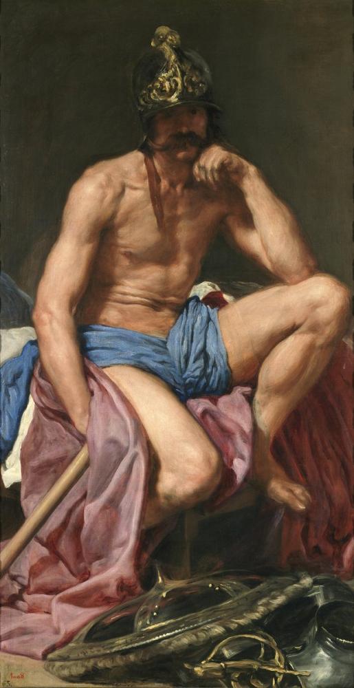 Diego Velázquez, Tanrı Mars, Kanvas Tablo, Diego Velázquez, kanvas tablo, canvas print sales