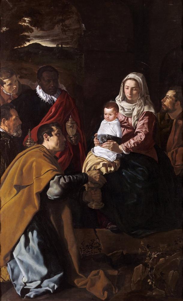 Diego Velázquez, Adoración de los Reyes, Canvas, Diego Velázquez, kanvas tablo, canvas print sales