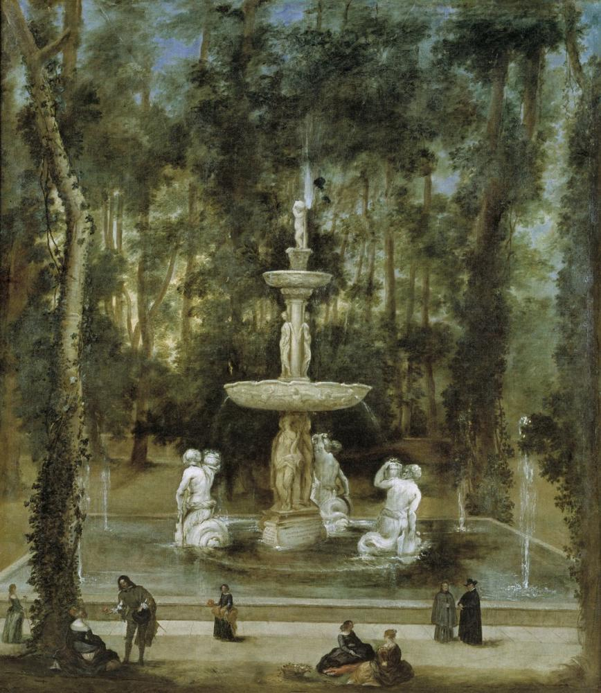 Diego Velázquez, Fountain of The Tritons in The Island Garden, Canvas, Diego Velázquez, kanvas tablo, canvas print sales