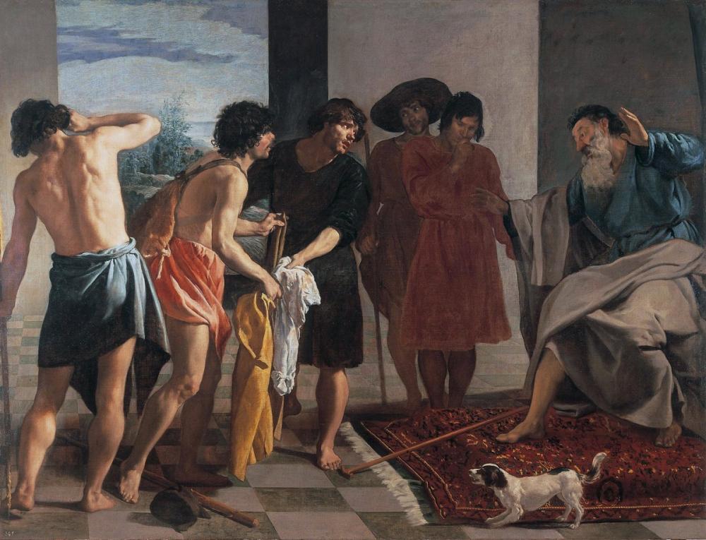 Diego Velázquez, Joseph s Bloody Coat Brought to Jacob, Canvas, Diego Velázquez, kanvas tablo, canvas print sales