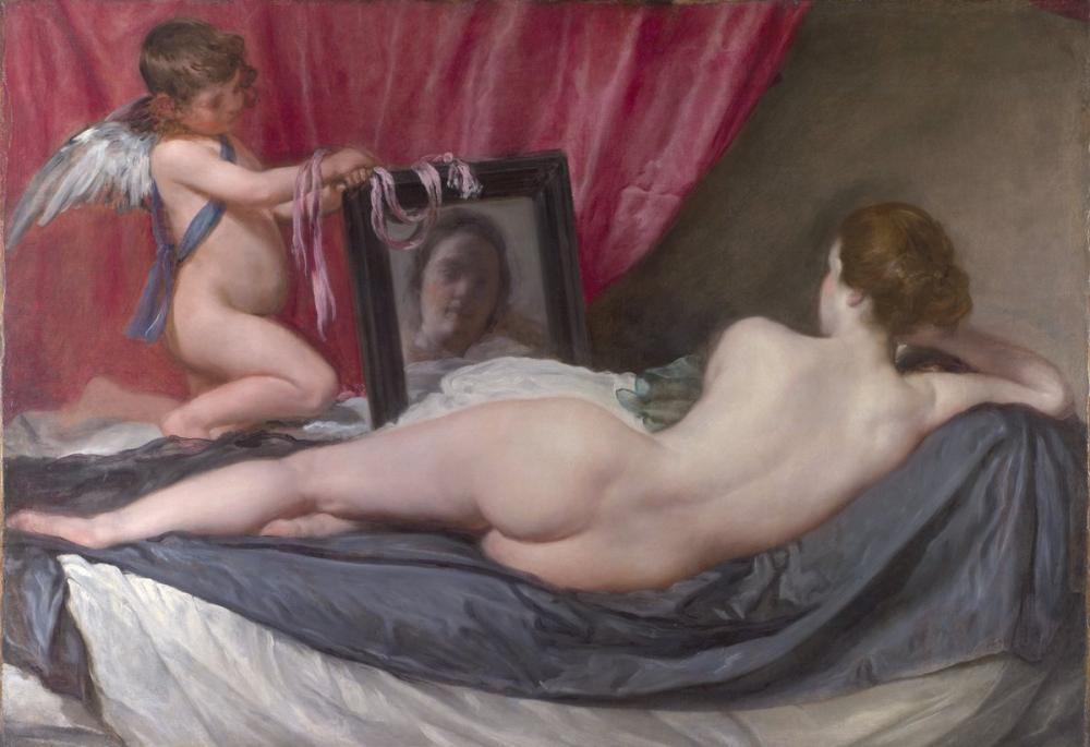Diego Velázquez, Aynasında Venüs, Kanvas Tablo, Diego Velázquez