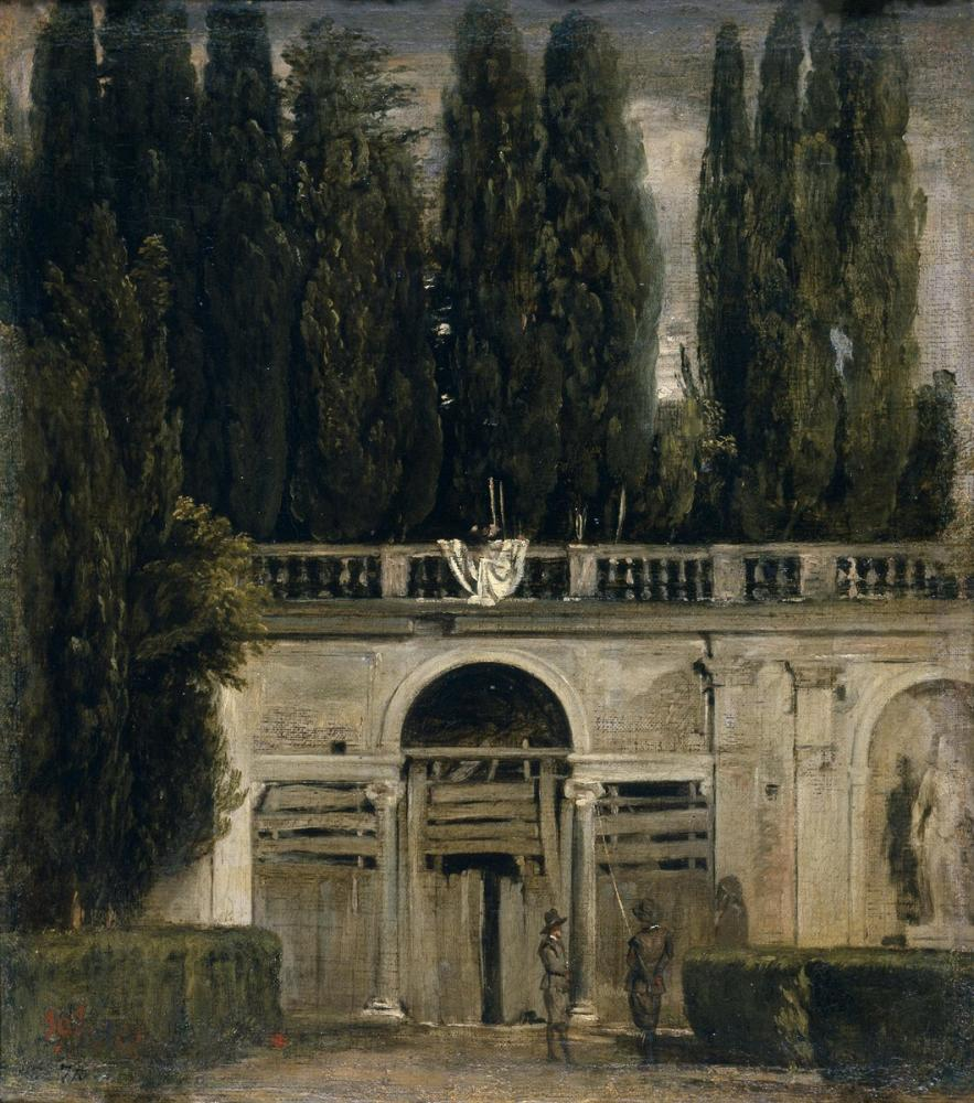 Diego Velázquez, View Of The Garden Of The Villa Medici, Canvas, Diego Velázquez, kanvas tablo, canvas print sales
