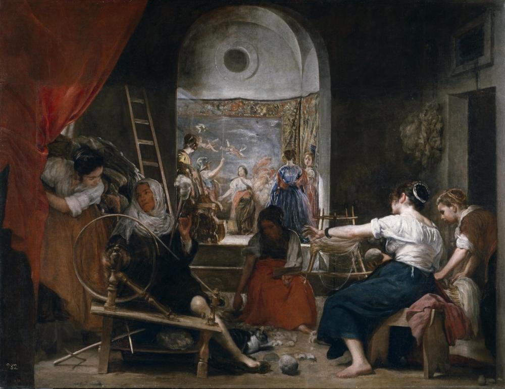 Diego Velázquez, Las Hilanderas, Canvas, Diego Velázquez, kanvas tablo, canvas print sales