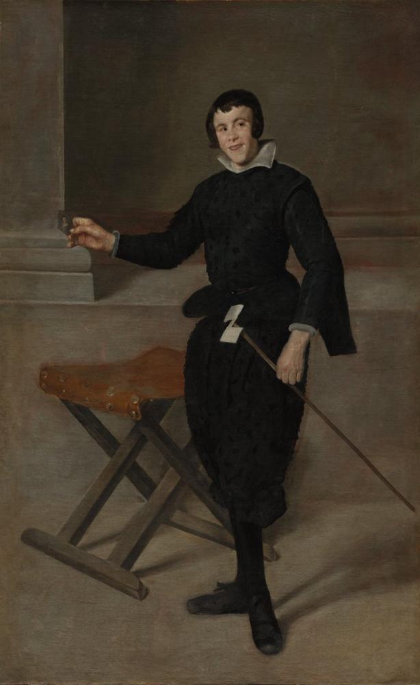 Diego Velázquez, Portrait of The Jester Calabazas, Canvas, Diego Velázquez, kanvas tablo, canvas print sales