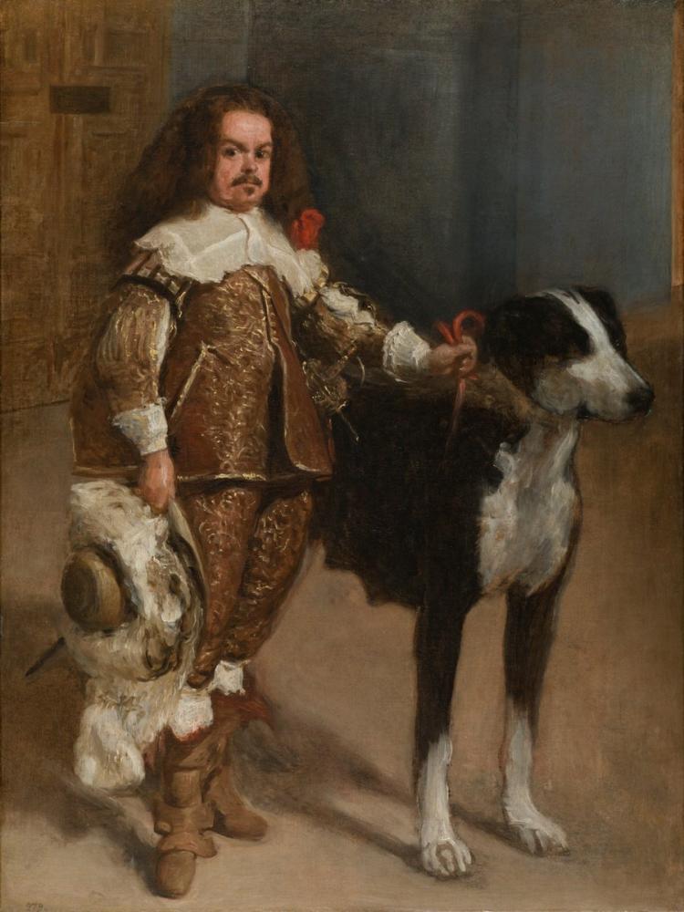 Diego Velázquez, Bir Köpek İle Bir Buffon Portresi, Kanvas Tablo, Diego Velázquez