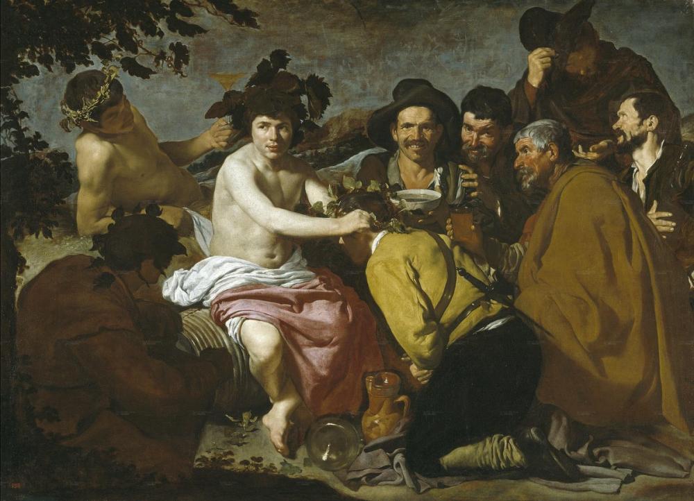 Diego Velázquez, Bacchus'un Zaferi, Kanvas Tablo, Diego Velázquez