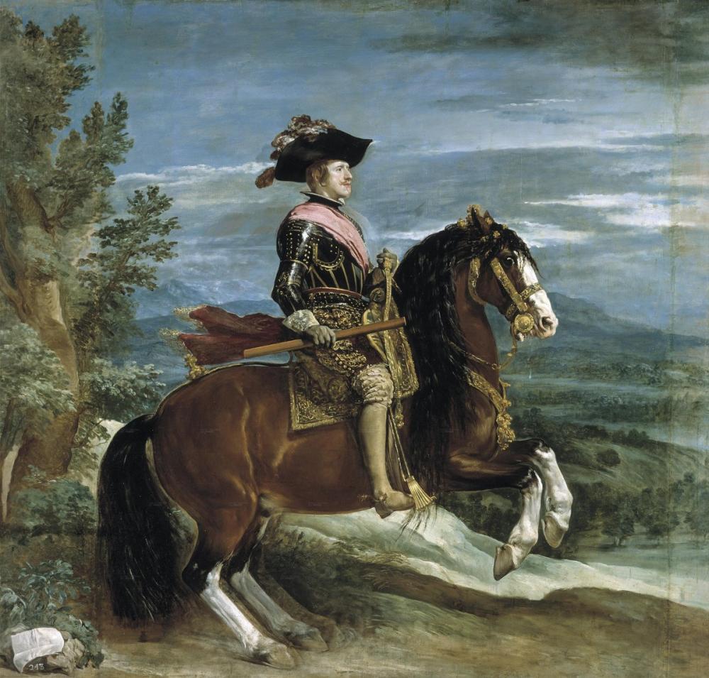 Diego Velázquez, At Sırtında Felipe IV Portresi, Kanvas Tablo, Diego Velázquez