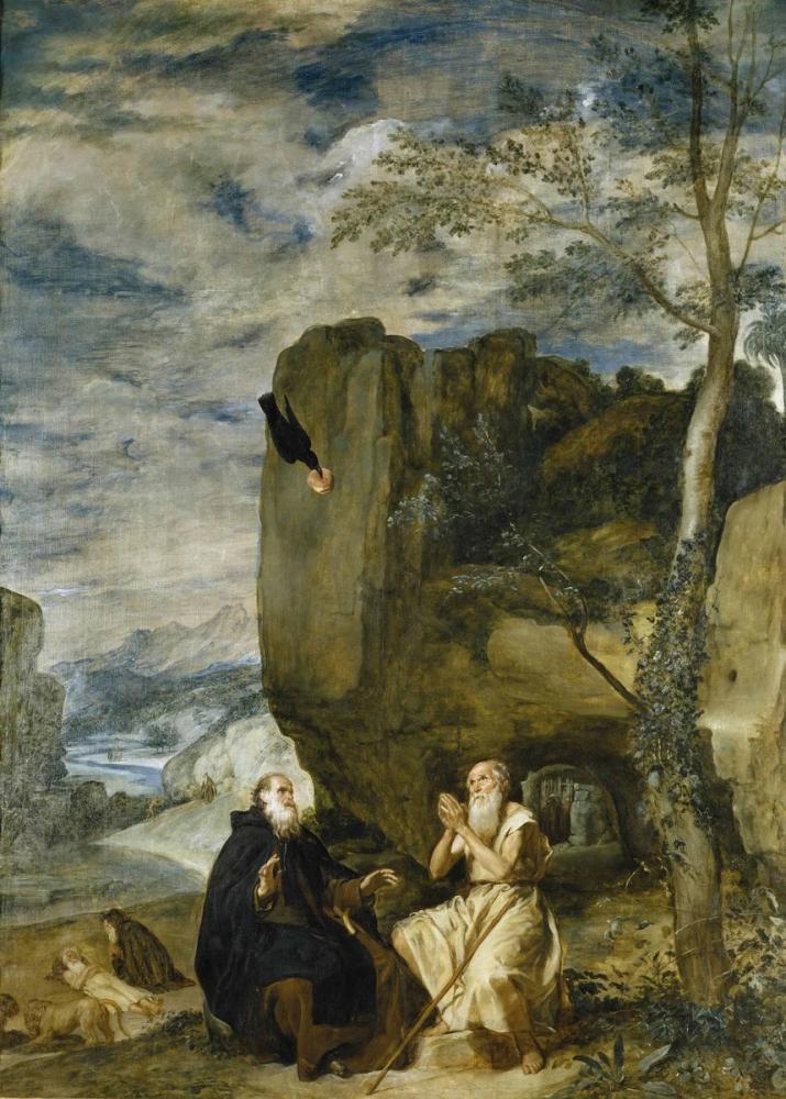 Diego Velázquez, San Antonio Abad And San Pablo Hermit, Canvas, Diego Velázquez, kanvas tablo, canvas print sales