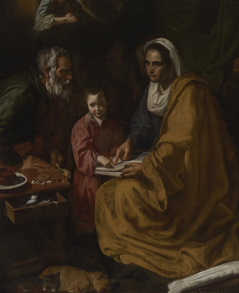 Diego Velázquez, Educacion Virgen, Canvas, Diego Velázquez, kanvas tablo, canvas print sales