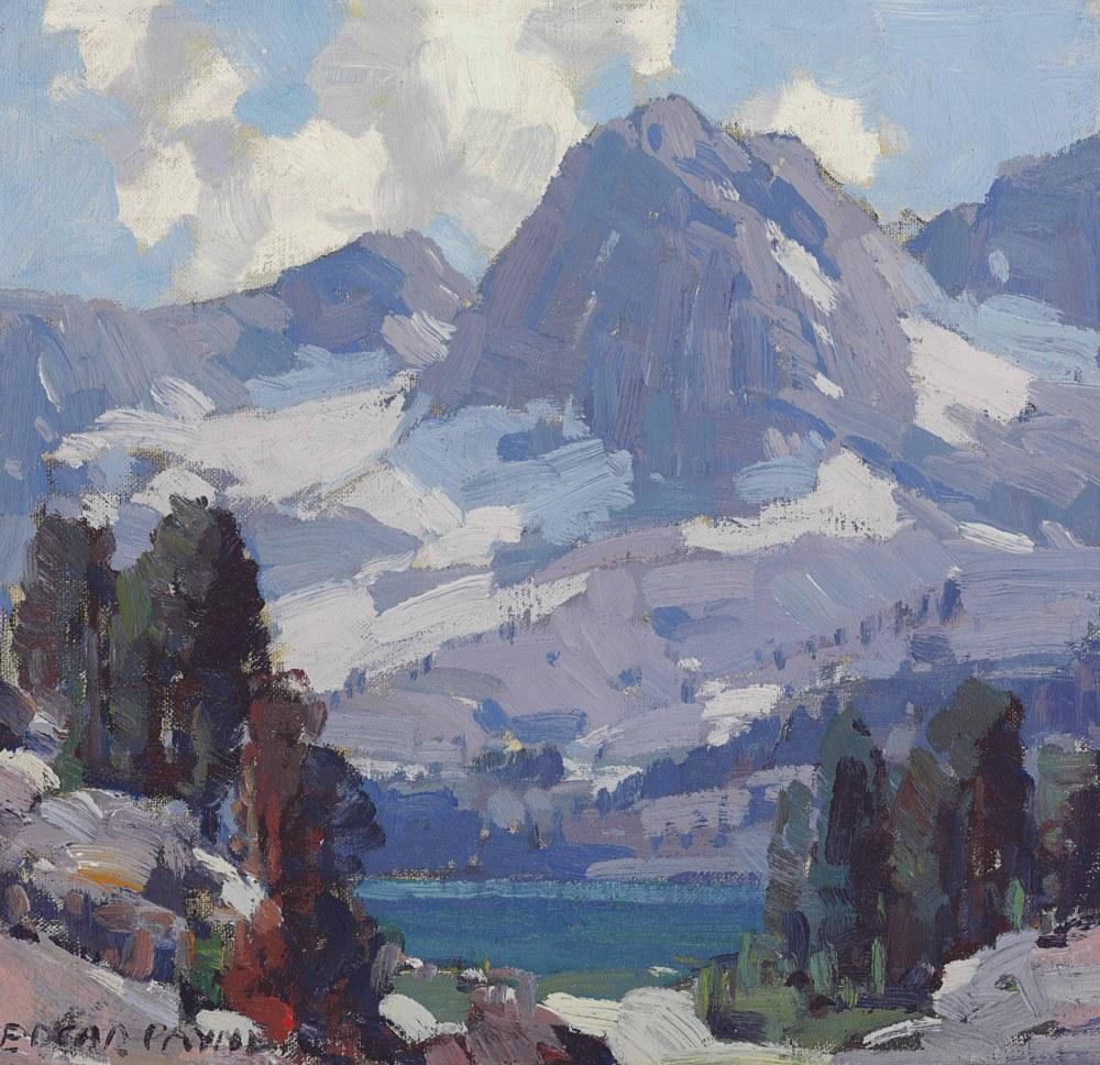 Yüksek Sierra Dağı Manzarası, Edgar Alwin Payne, Kanvas Tablo, Edgar Alwin Payne