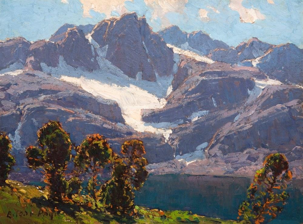 Yüksek Sierra, Edgar Alwin Payne, Kanvas Tablo, Edgar Alwin Payne