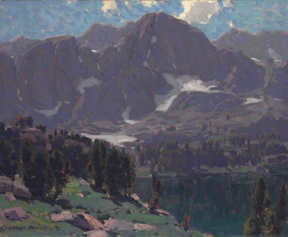 Summit Lake, High Sierras, Egdar Payne, Canvas, Edgar Alwin Payne, kanvas tablo, canvas print sales