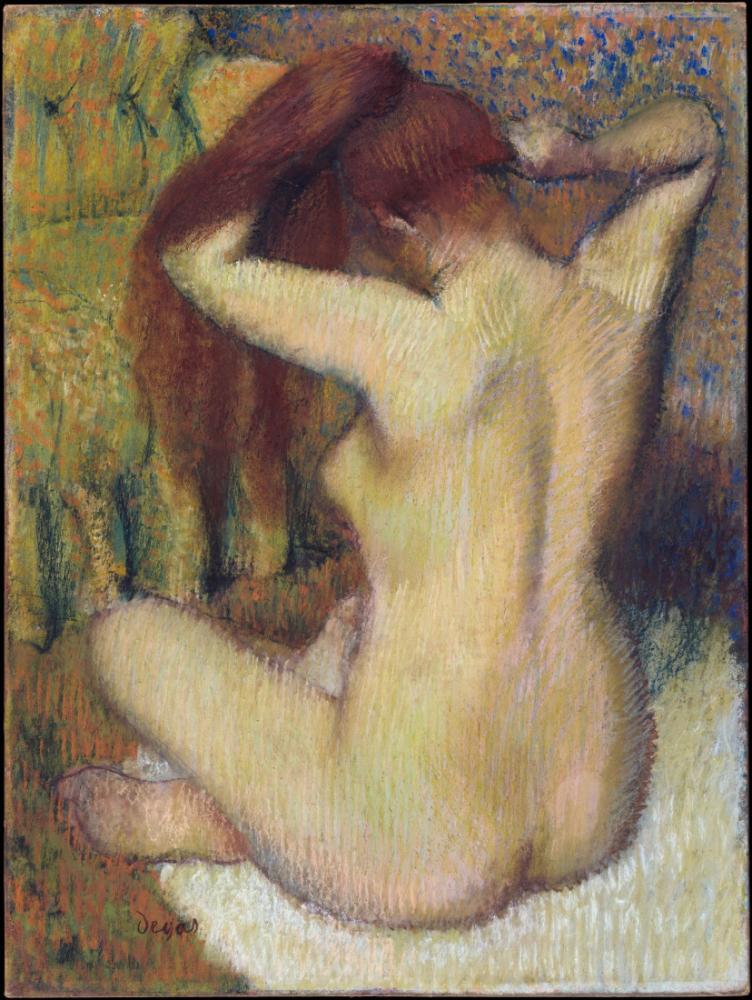 Saçını Düzelten Kadın, Edgar Degas, Kanvas Tablo, Edgar Degas, kanvas tablo, canvas print sales