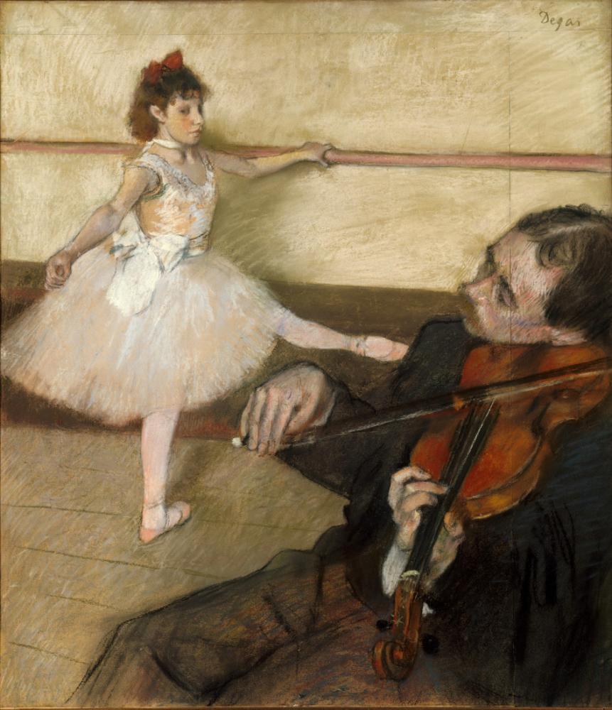 Dance Lesson, Edgar Degas, Canvas, Edgar Degas, kanvas tablo, canvas print sales
