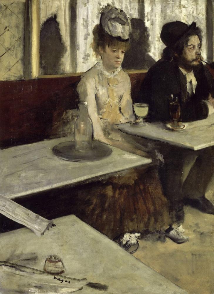 Edgar Degas In A Cafe, Canvas, Edgar Degas, kanvas tablo, canvas print sales