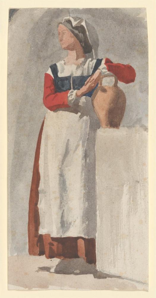 Edgar Degas İtalyan Kadın, Kanvas Tablo, Edgar Degas, kanvas tablo, canvas print sales