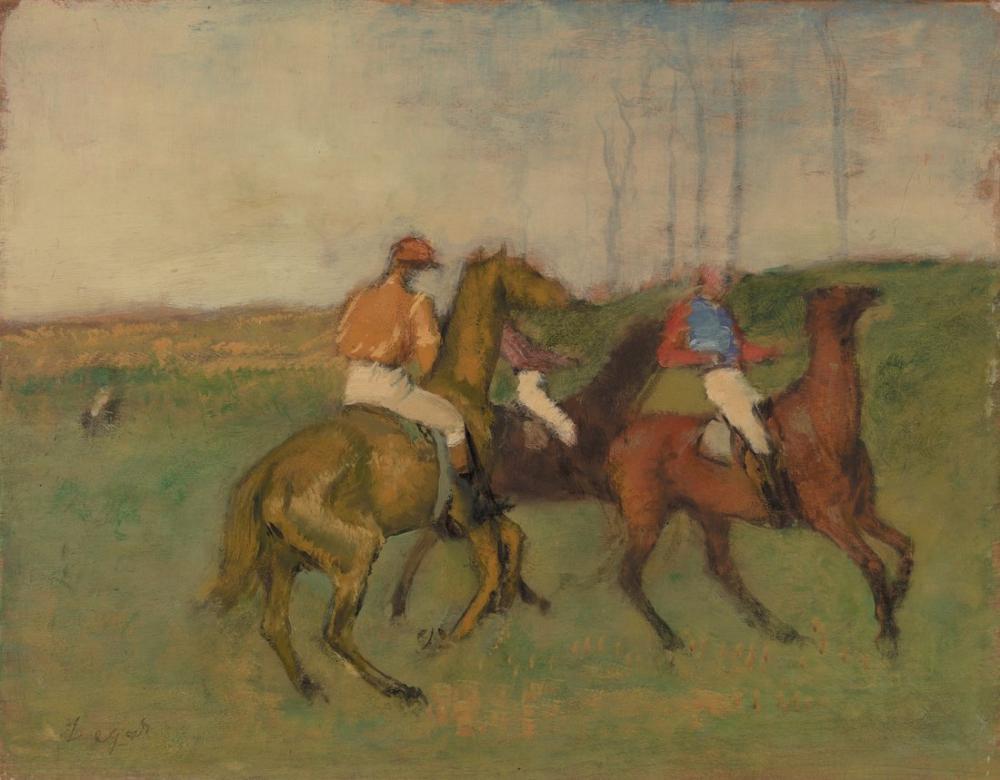 Edgar Degas Jockeys And Race Horses BF Barnes Foundation, Canvas, Edgar Degas, kanvas tablo, canvas print sales