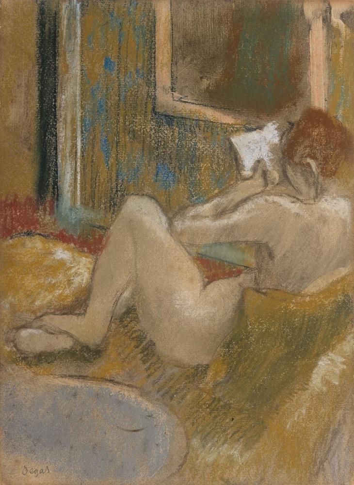 Edgar Degas Liseuse, Kanvas Tablo, Edgar Degas, kanvas tablo, canvas print sales