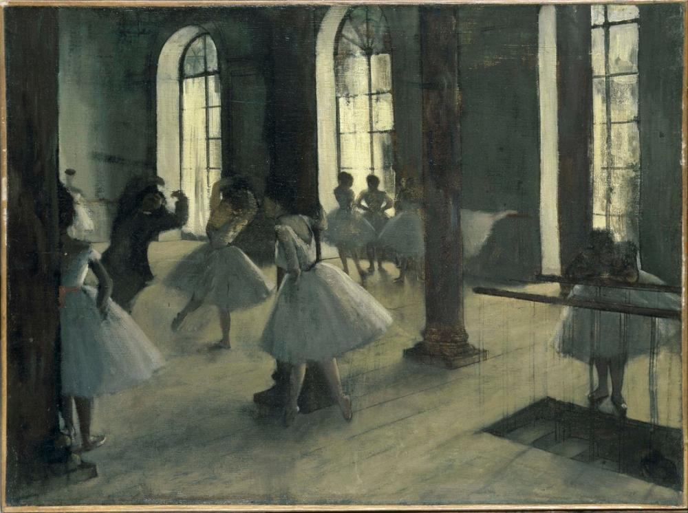 Edgar Degas La Repetition Au Foyer De La Danse, Canvas, Edgar Degas, kanvas tablo, canvas print sales