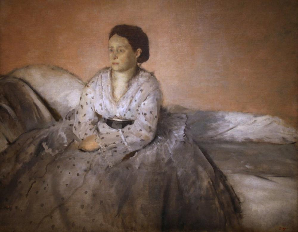 Edgar Degas Madame Rene De Gas, Canvas, Edgar Degas, kanvas tablo, canvas print sales