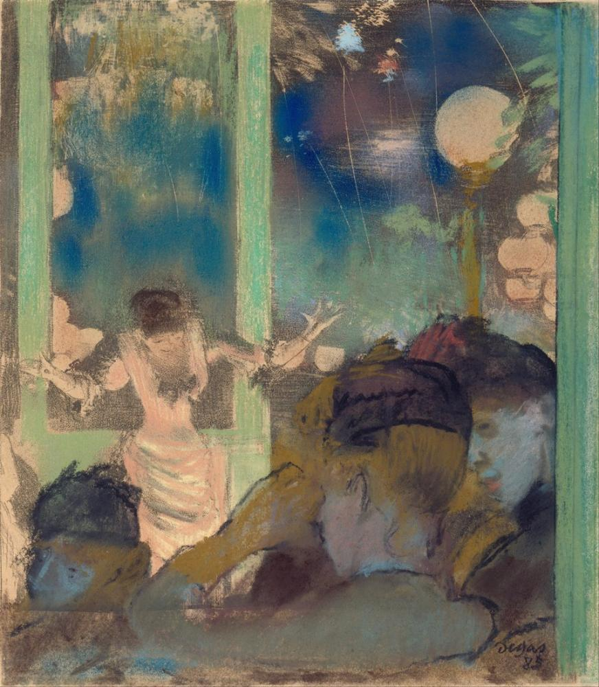 Edgar Degas Mademoiselle Bét At The Café Des Ambassadeurs, Canvas, Edgar Degas, kanvas tablo, canvas print sales