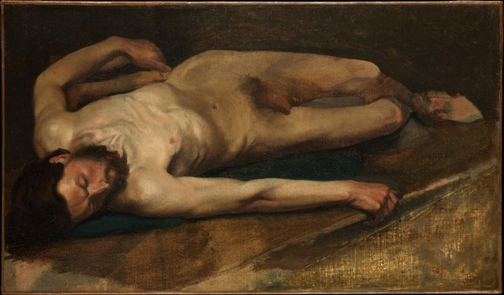 Edgar Degas Male Nude, Canvas, Edgar Degas, kanvas tablo, canvas print sales