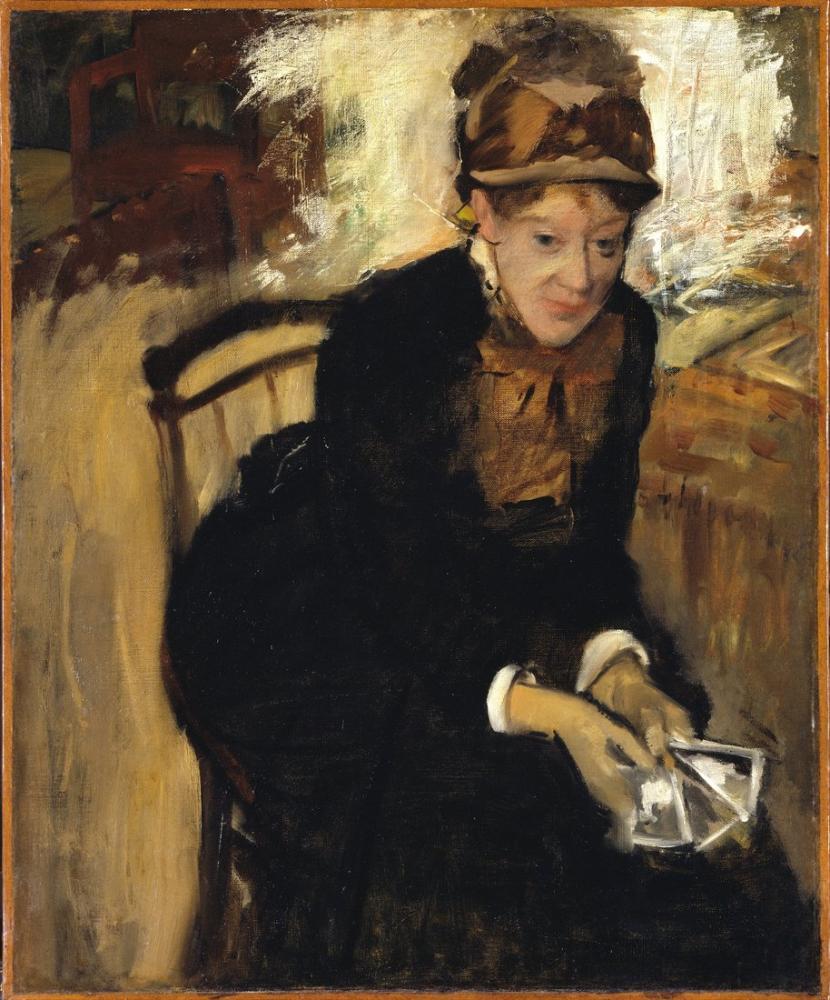Edgar Degas Mary Ssatt Xcm Ulusal Portre Galerisi Washington Npg Küçük, Kanvas Tablo, Edgar Degas, kanvas tablo, canvas print sales