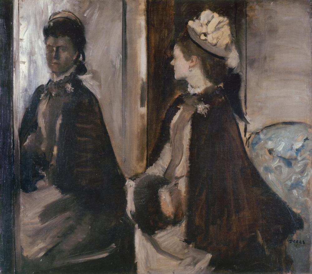 Edgar Degas Mrs Jeantaud In The Mirror, Canvas, Edgar Degas, kanvas tablo, canvas print sales