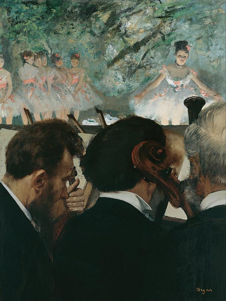 Edgar Degas Orkestrası Müzisyenler, Kanvas Tablo, Edgar Degas, kanvas tablo, canvas print sales