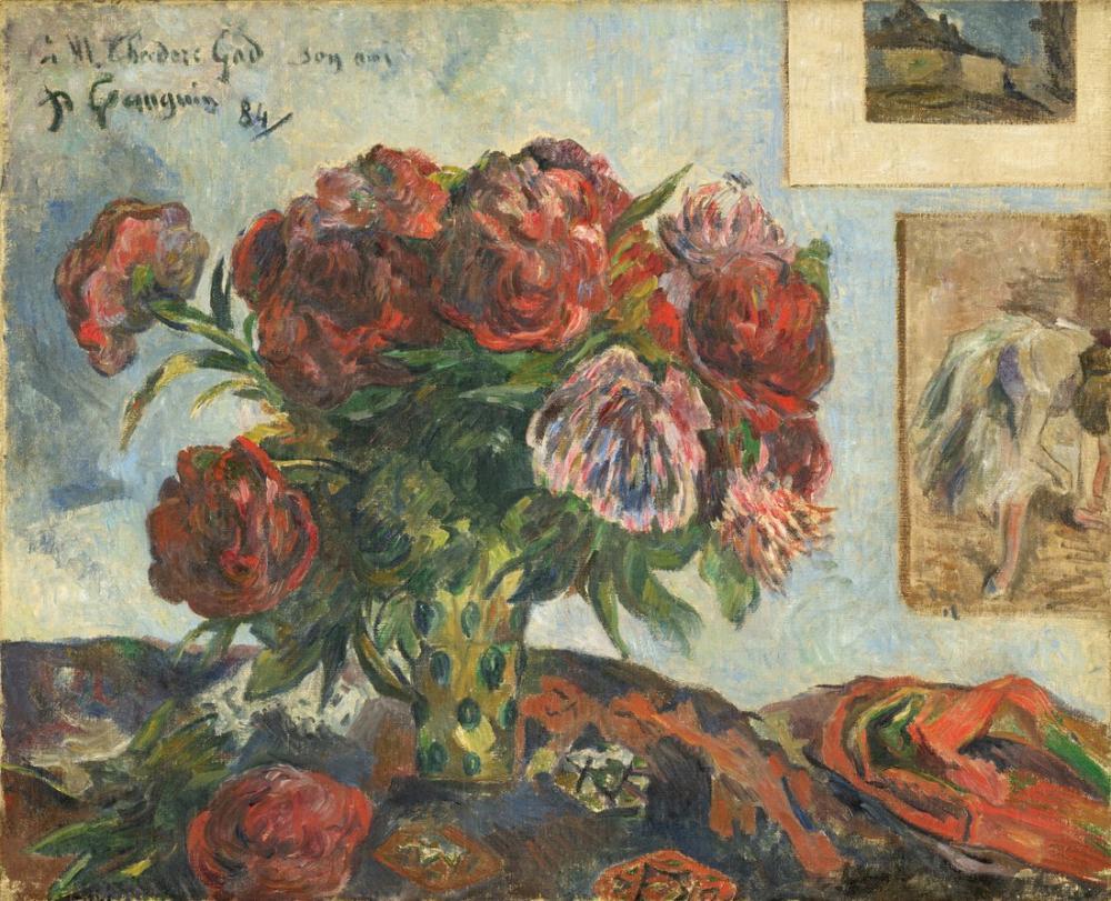 Edgar Degas Paul Gauguin Şakayık I, Kanvas Tablo, Edgar Degas, kanvas tablo, canvas print sales