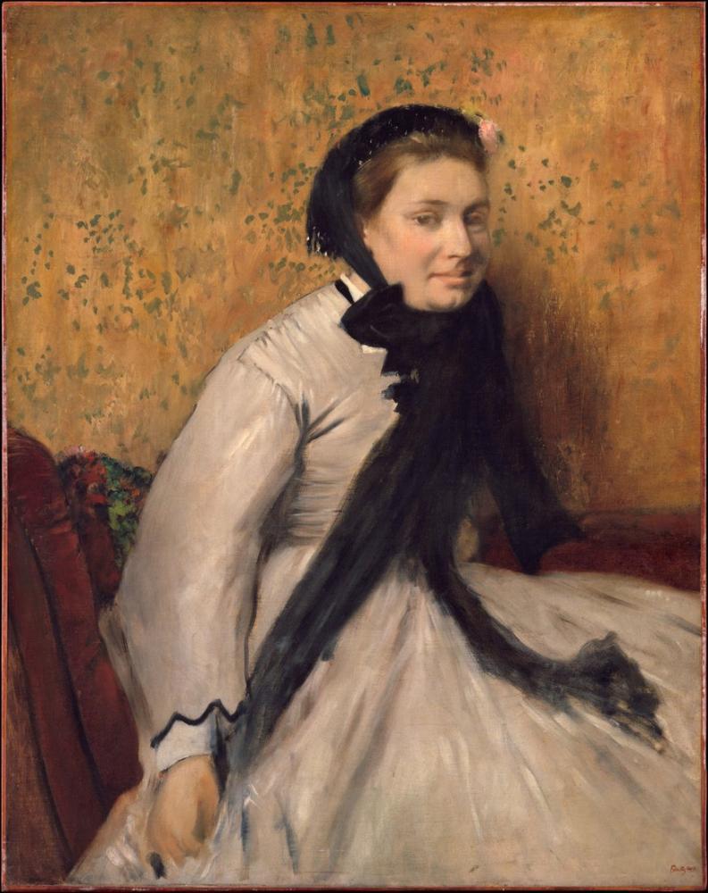 Edgar Degas Gri Bir Kadının Portresi, Kanvas Tablo, Edgar Degas, kanvas tablo, canvas print sales