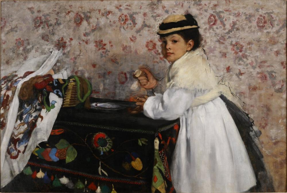 Edgar Degas Portrait Of Mlle Hortense Valpinçon, Canvas, Edgar Degas, kanvas tablo, canvas print sales