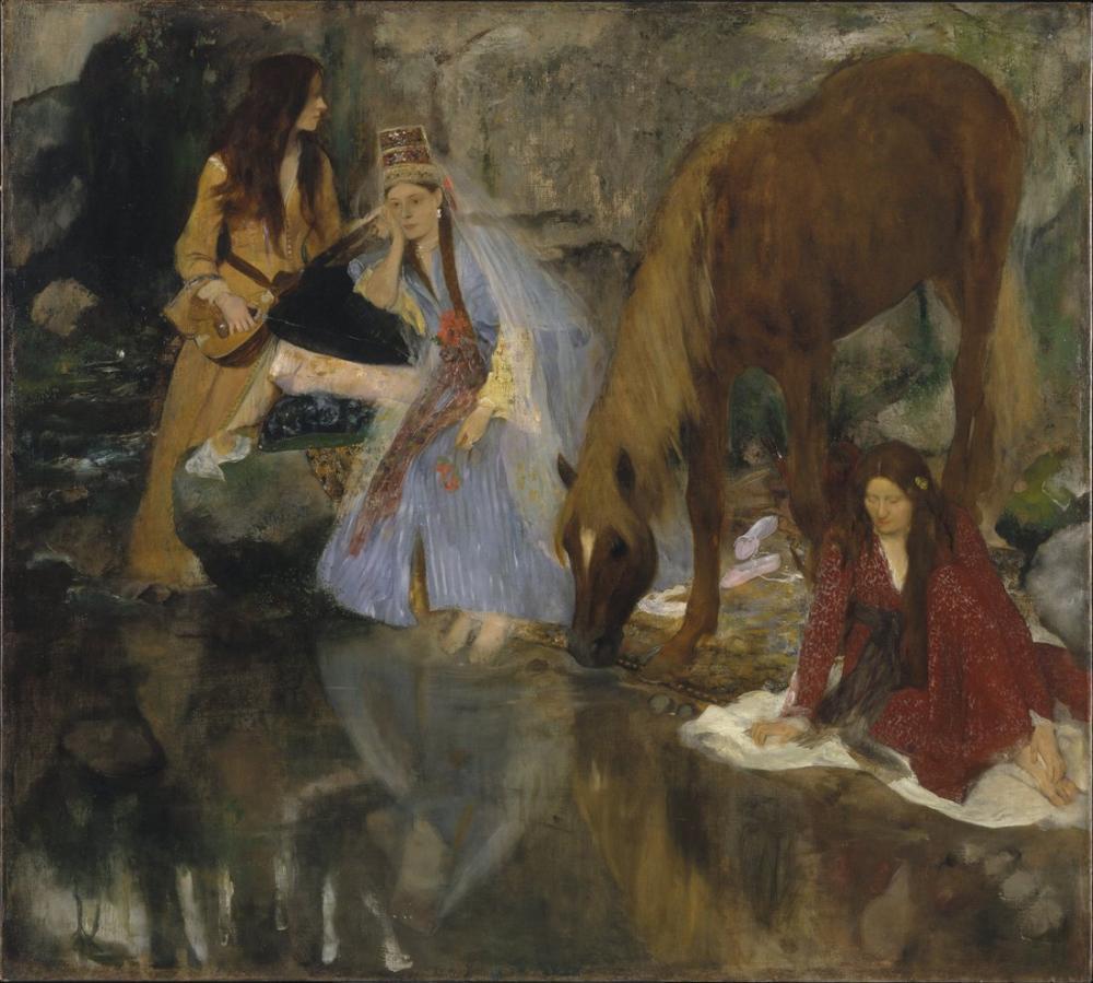 Edgar Degas Balede Bayan Fiocre Portresi Bayan Eugenie Fiocre Kaynak Portresi, Kanvas Tablo, Edgar Degas, kanvas tablo, canvas print sales
