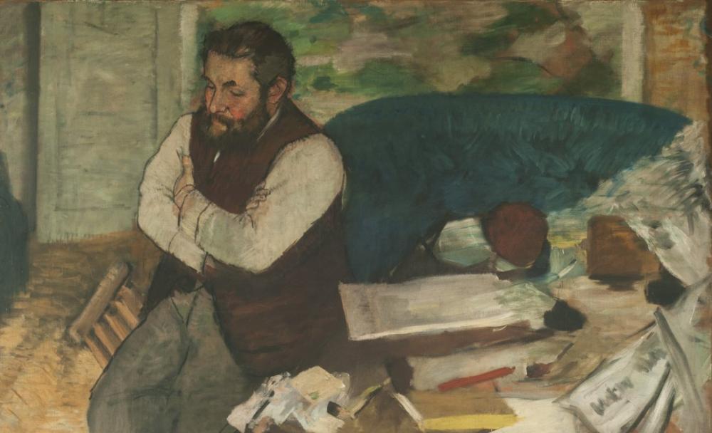 Edgar Degas Diego Martelli Portresi, Kanvas Tablo, Edgar Degas, kanvas tablo, canvas print sales