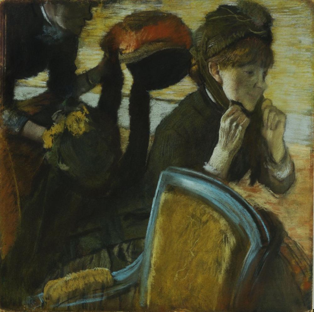 Edgar Degas At The Milliners, Canvas, Edgar Degas, kanvas tablo, canvas print sales
