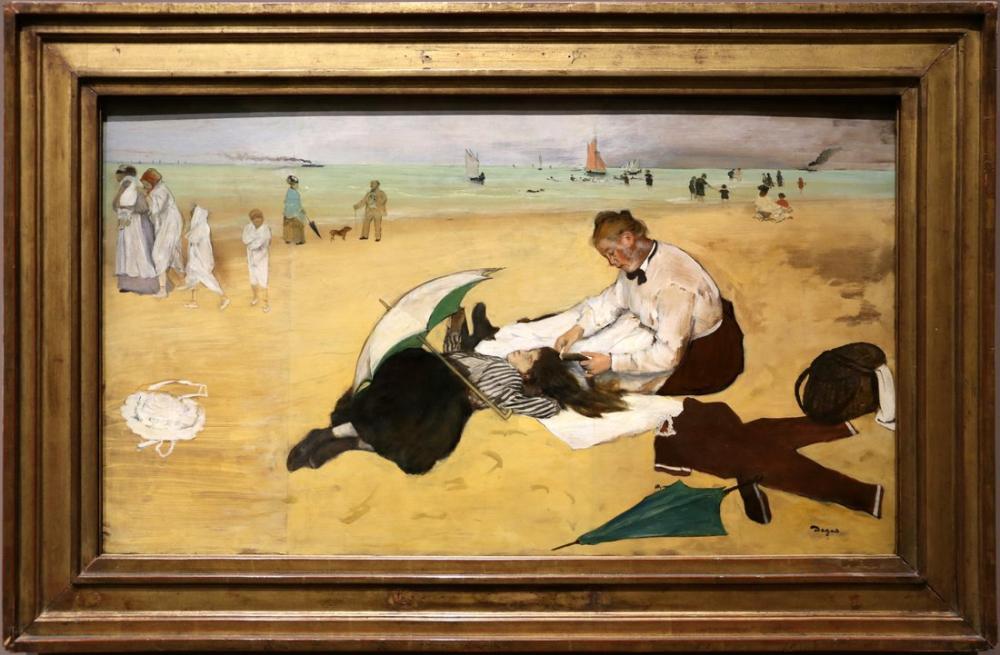 Edgar Degas Scena In Spiaggia, Canvas, Edgar Degas, kanvas tablo, canvas print sales