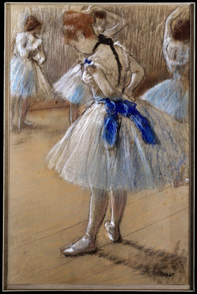 Edgar Degas Ders Çalışma, Kanvas Tablo, Edgar Degas, kanvas tablo, canvas print sales