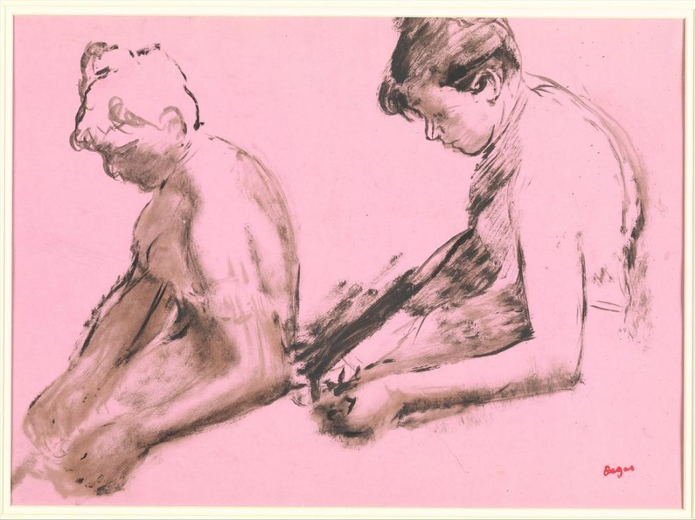Edgar Degas Study Of A Ballet Dancer recto Two Studies Of Dancers, Canvas, Edgar Degas, kanvas tablo, canvas print sales