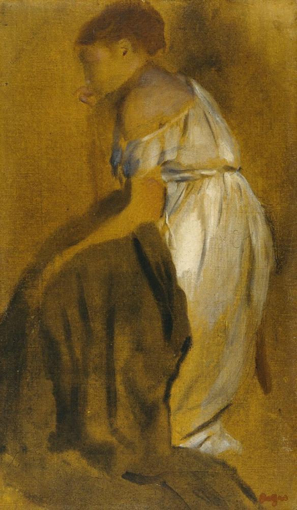 Edgar Degas Study Of A Seated Woman, Canvas, Edgar Degas, kanvas tablo, canvas print sales