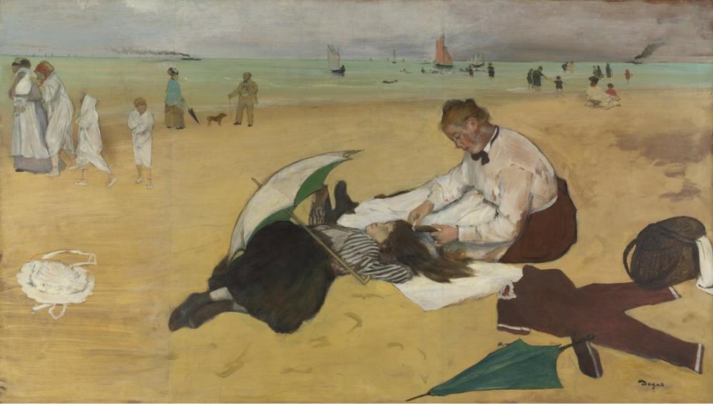 Edgar Degas Sahilde, Kanvas Tablo, Edgar Degas, kanvas tablo, canvas print sales