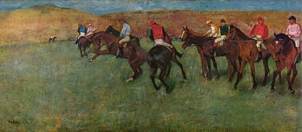 Edgar Degas Yarışlarda Başlamadan Önce, Kanvas Tablo, Edgar Degas, kanvas tablo, canvas print sales