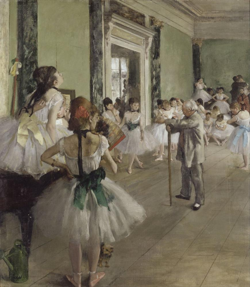 Edgar Degas The Ballet Class II, Canvas, Edgar Degas, kanvas tablo, canvas print sales
